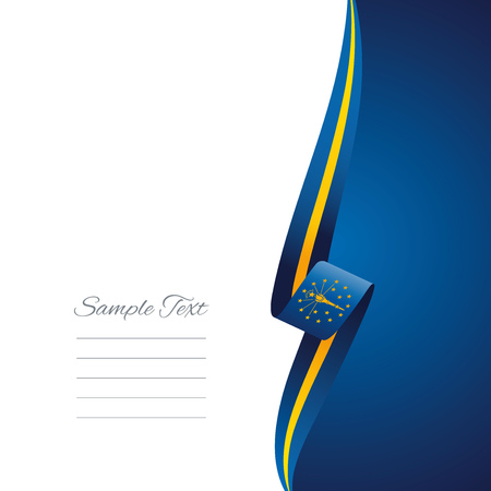 right side: Indiana right side brochure cover vector Illustration