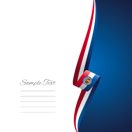united states: Missouri right side brochure cover vector