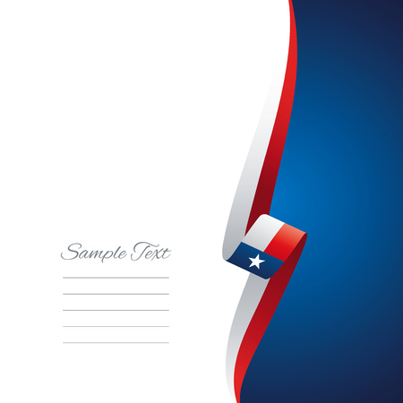 right side: Texas right side brochure cover vector Illustration