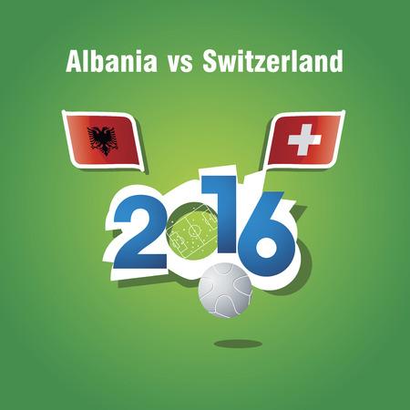 albania: Euro 2016 Albania vs Switzerland vector background