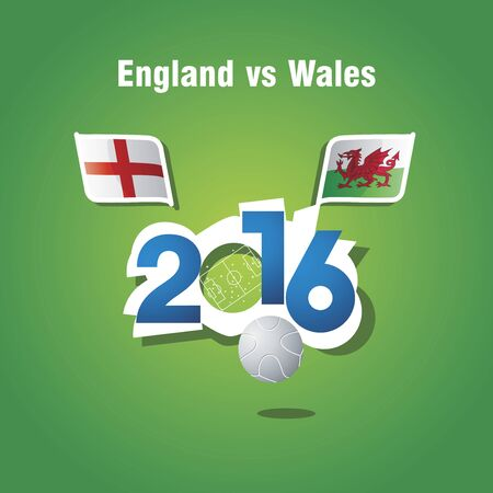 wales: Euro 2016 England vs Wales vector background