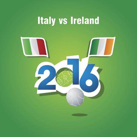 italy background: Euro 2016 Italy vs Ireland vector background Illustration