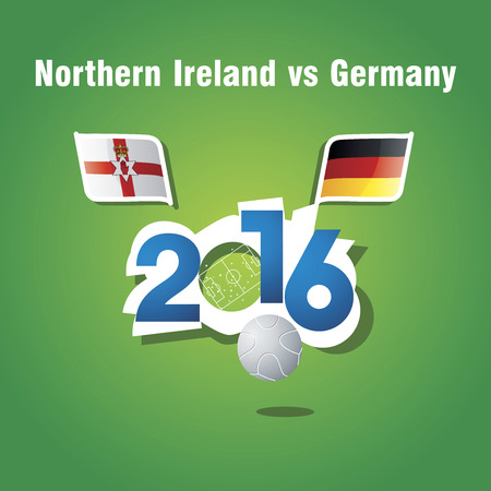 northern ireland: Euro 2016 Northern Ireland vs Germany vector background Illustration