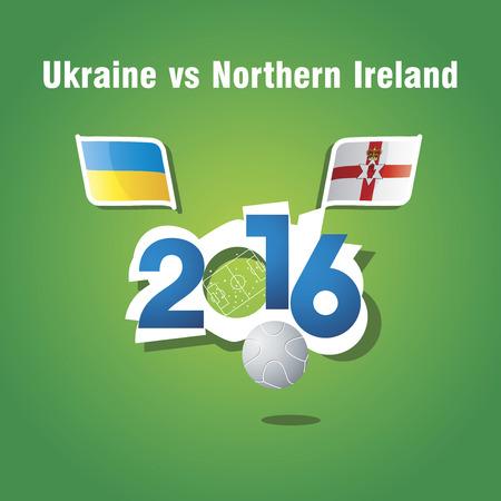 northern ireland: Euro 2016 Ukraine vs Northern Ireland vector background