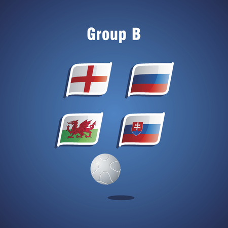 group b: Euro 2016 Group B vector blue background