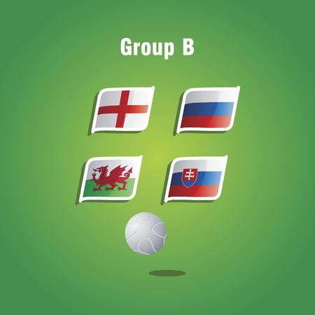 group b: Euro 2016 Group B vector background