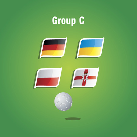 Euro 2016 Group C vector background