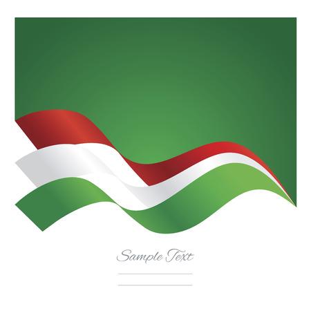 Hungary abstract ribbons flag vector