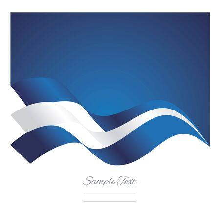 greek flag: Greece abstract ribbons flag vector
