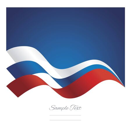 russia: Russia abstract ribbons flag vector