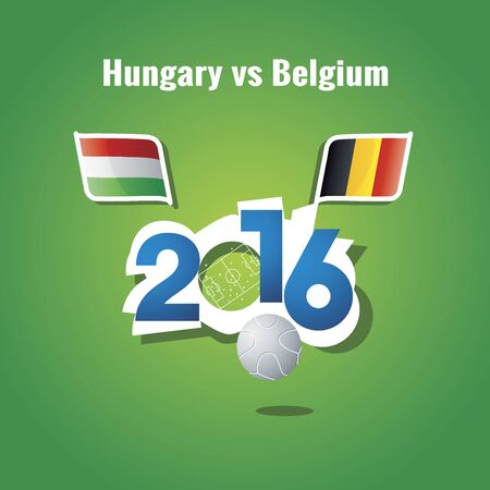 toulouse: Euro 2016 Hungary vs Belgium background Illustration