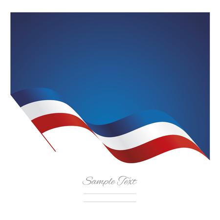 フランス抽象波フラグ リボン背景  イラスト・ベクター素材