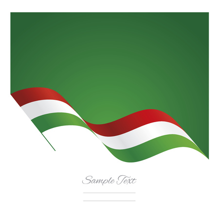 white background abstract: Italy abstract wave flag ribbon background Illustration