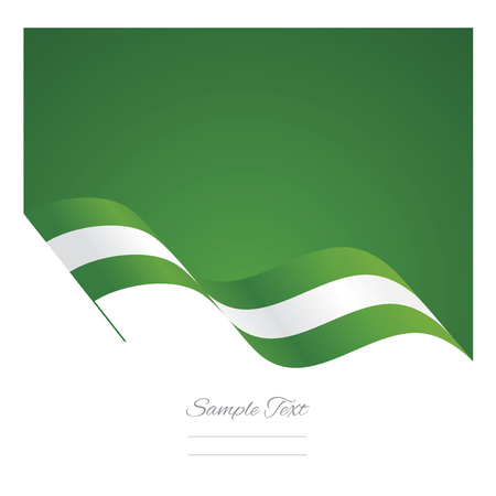 country nigeria: Nigeria abstract wave flag ribbon background