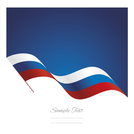russia flag: Russia abstract wave flag ribbon background