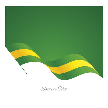 Brazil abstract wave flag ribbon background