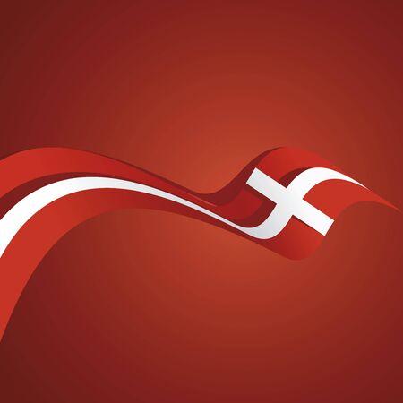 denmark flag: Abstract cover Denmark flag ribbon banner vector background