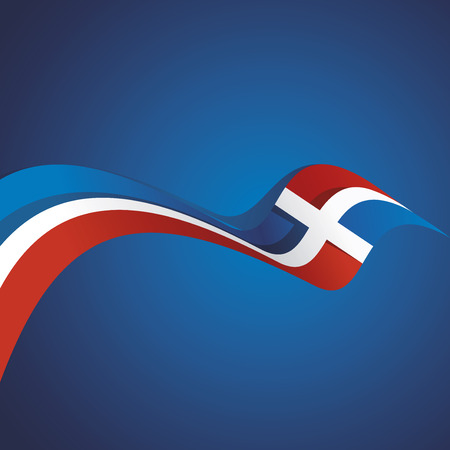 Abstract cover Dominican Republic flag ribbon banner vector background