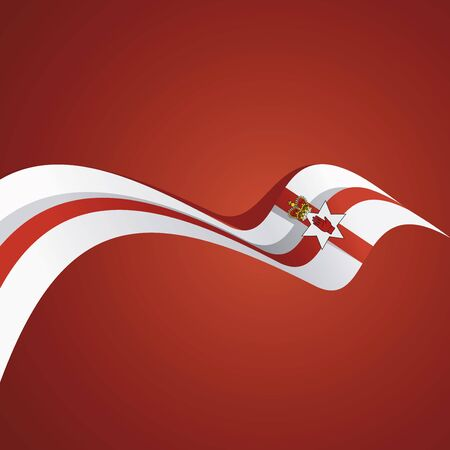 northern: Abstract cover Northern Ireland flag ribbon banner vector background Illustration