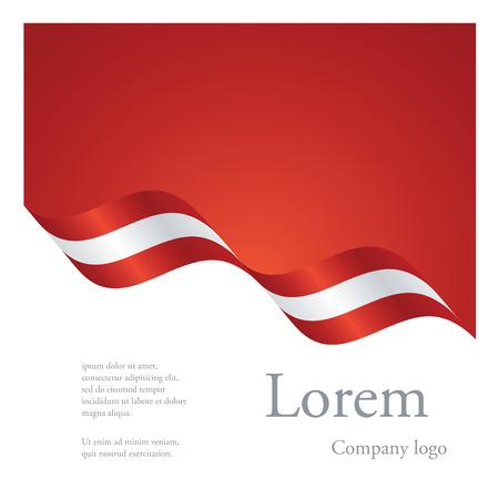 New brochure abstract design modular pattern of wavy flag ribbon of Austria Illustration