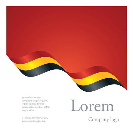 black yellow: New brochure abstract design modular pattern of wavy flag ribbon of Belgium Illustration