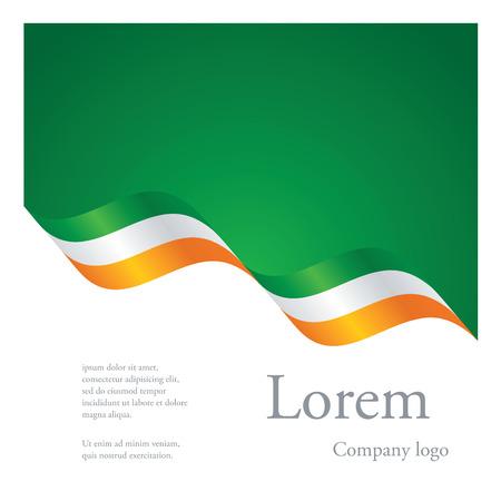 New brochure abstract design modular pattern of wavy flag ribbon of Ireland