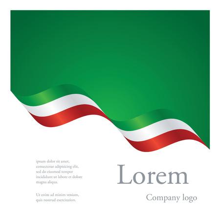 Nuovo disegno astratto modello modulare brochure del nastro ondulato bandiera del Messico Vettoriali