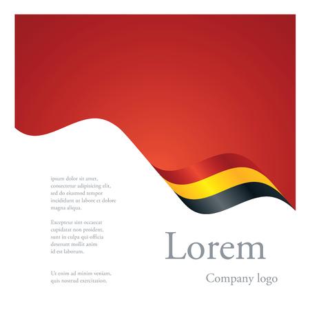 amarillo y negro: Nuevo diseño abstracto folleto solo patrón modular de la cinta del indicador ondulado de Bélgica Vectores