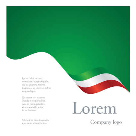 New brochure abstract design modular single pattern of wavy flag ribbon of Mexico Stock Illustratie