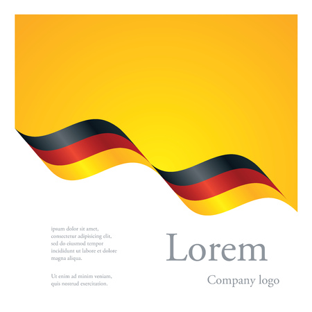 black yellow: New brochure abstract design modular pattern of wavy flag ribbon of Germany Illustration