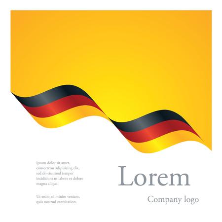 amarillo y negro: Nuevo diseño abstracto folleto patrón modular de la cinta del indicador ondulado de Alemania Vectores