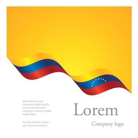 New brochure abstract design modular pattern of wavy flag ribbon of Venezuela Vectores