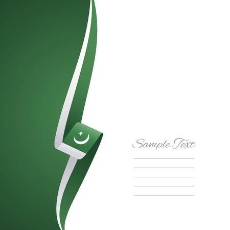 pakistan flag: Pakistan left side brochure vector