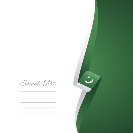 islamabad: Pakistan right side brochure vector