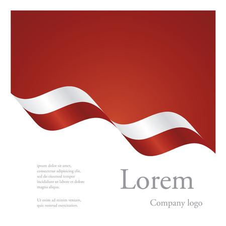polish flag: New brochure abstract design modular pattern of wavy flag ribbon of Poland