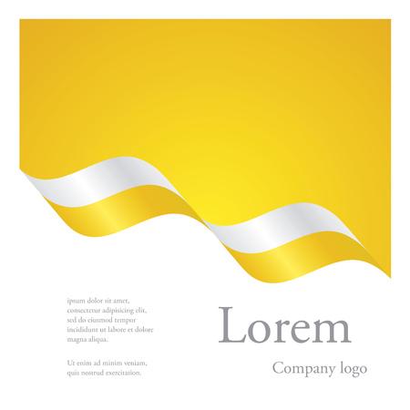 New brochure abstract design modular pattern of wavy flag ribbon of Vatican