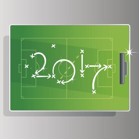 green board: Soccer strategy goal 2017 green board background Illustration