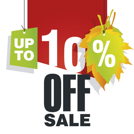 trade off: Autumn Sale up to 10 percent off red background