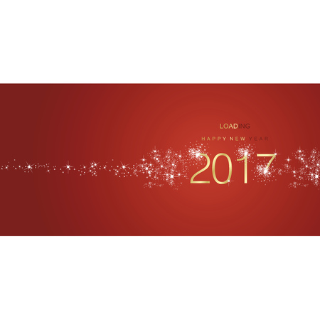 color of year: New Year 2017 greetings loading firework gold red color