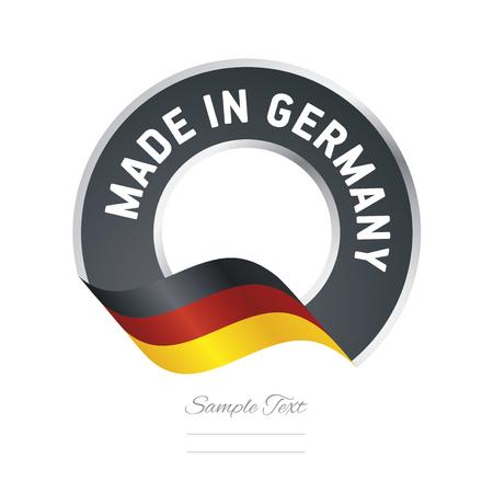 Made in Germany flag black color label button banner Çizim