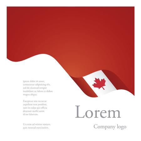 Neue Broschüre abstrakten Design modulare Einzel Muster der gewellten Flagge Band von Kanada