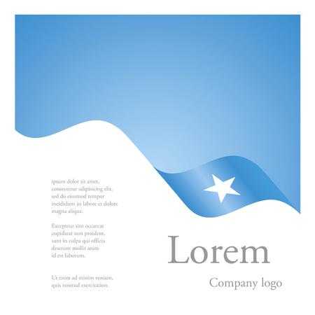 somali: New brochure abstract design modular single pattern of wavy flag ribbon of Somalia