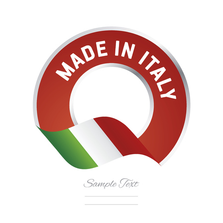 Made in Italy flag green color label button logo icon banner