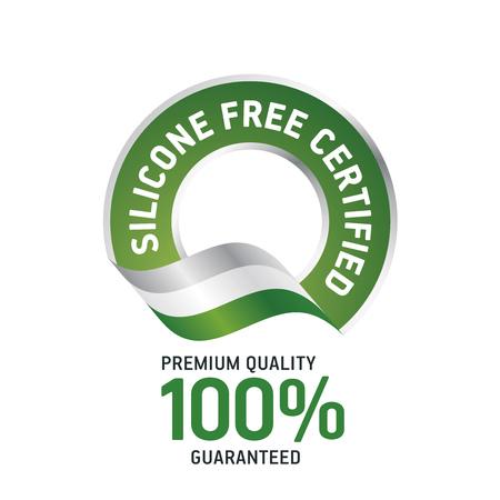 실리콘 무료 인증 녹색 리본 라벨 로고 아이콘
