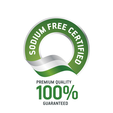 Sodium Free Certified green ribbon label logo icon