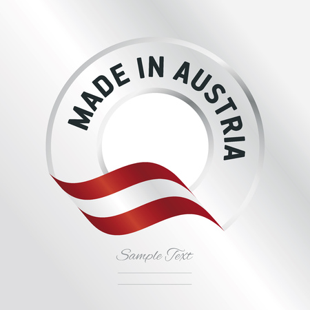 Made in Austria transparent logo icon silver background