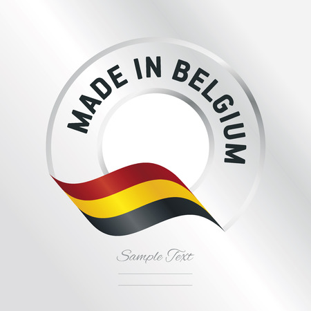 Made in Belgium transparent logo icon silver background