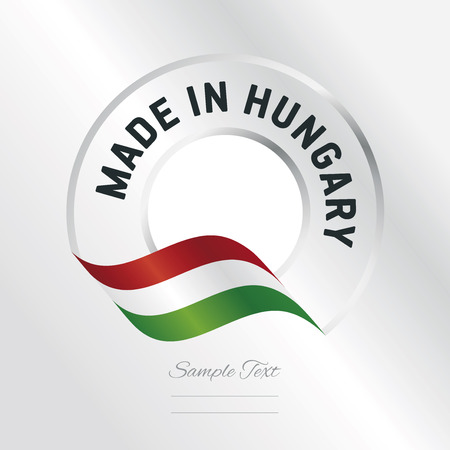 Made in Hungary transparent logo icon silver background