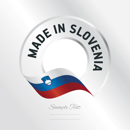 Made in Slovenia transparent logo icon silver background Illustration