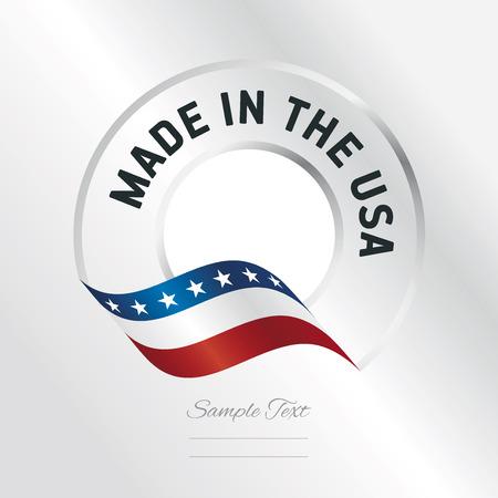 米国透明ロゴ アイコン銀背景は、